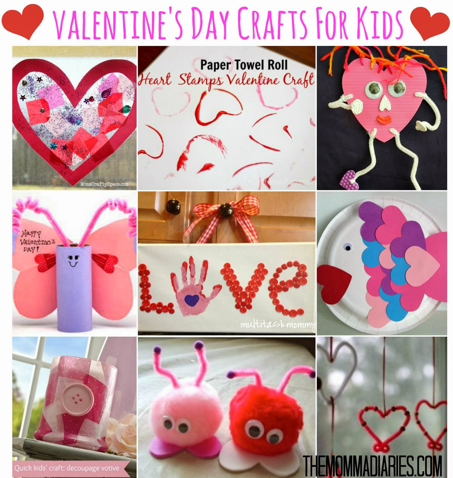 Valentine 39 s day crafts for kids the momma diaries for Valentine day crafts for kids