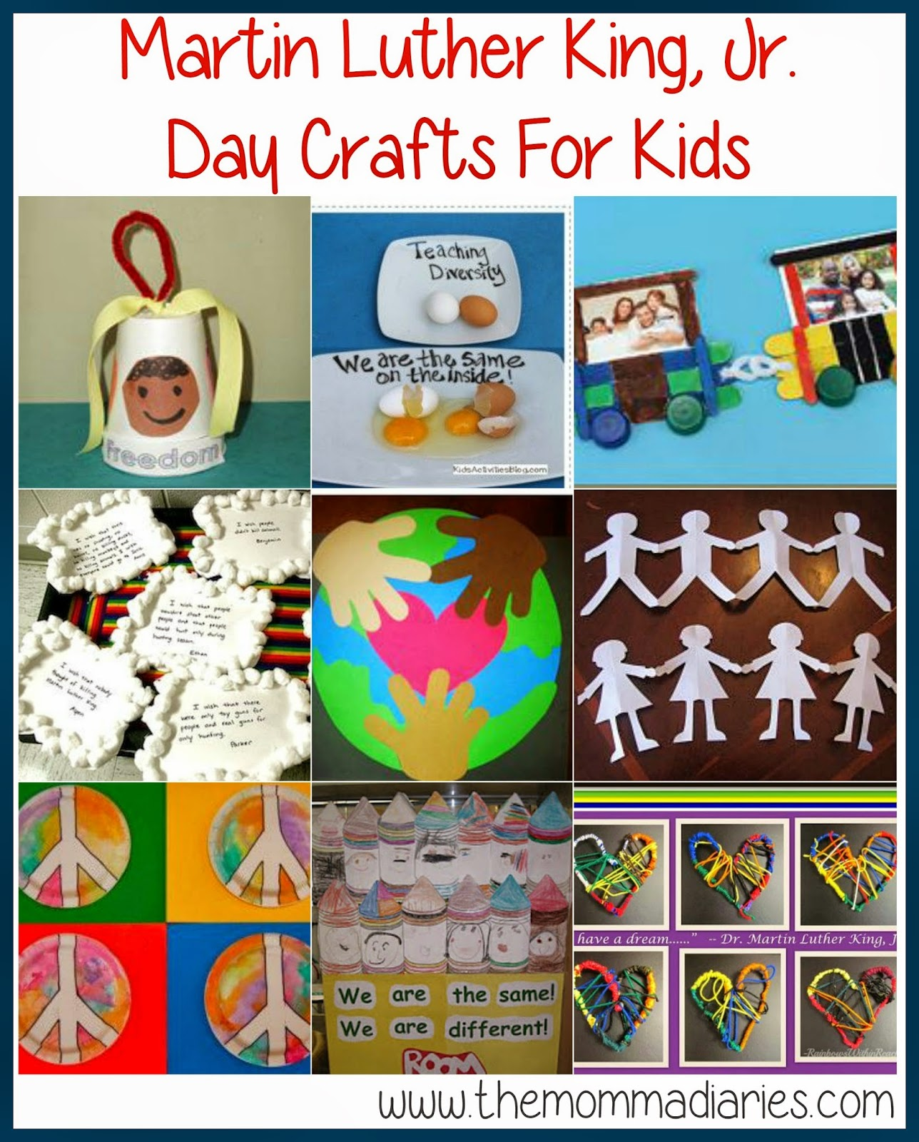 Martin Luther King Jr Day Crafts for Kids, Martin Luther King Day Crafts