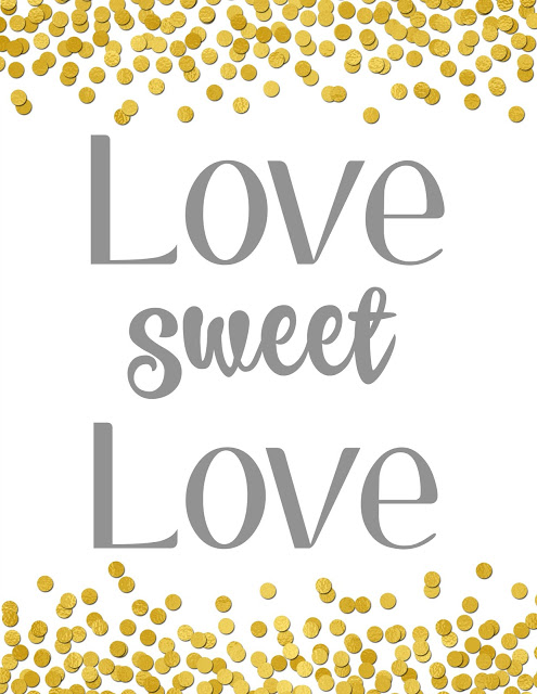 Free Valentine's Day Printable, Love Sweet Love Printable