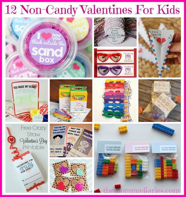 Non Candy Valentines for Kids, Candy Free Valentines