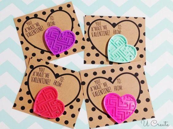 Kids Maze Valentines