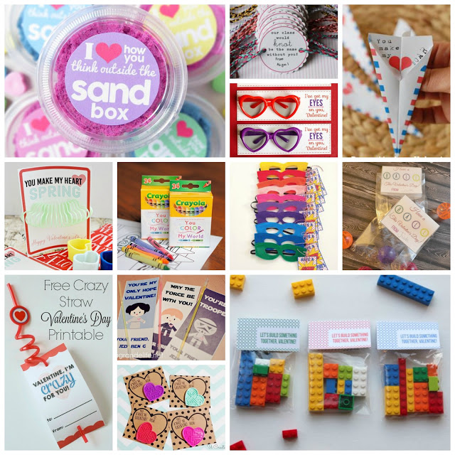 Non-Candy Valentines for Kids, Candy Free Kids Valentines