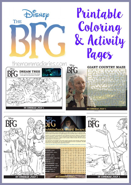 The BFG Printable Coloring and Activity Pages