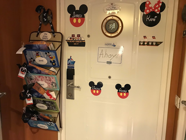 Disney Cruise decorated stateroom door