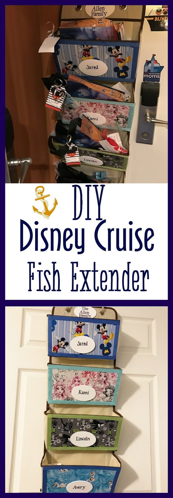 DIY Disney Cruise Fish Extender, Fish Extender tutorial, No Sew Fish Extender