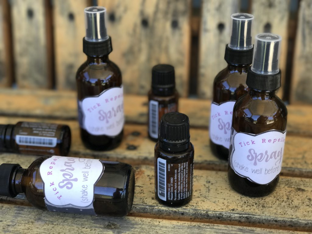 Tick Repellent Spray with essential oils