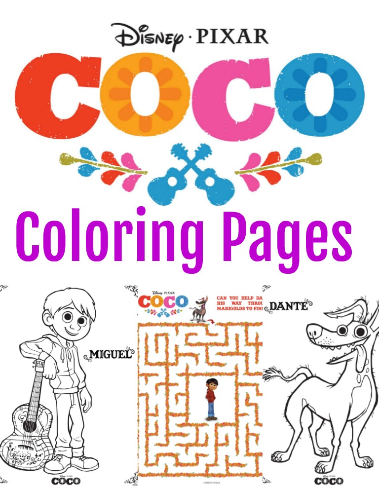 Coloring Pages Disney Coco : Disney pixar coco coloring pages activity sheets the