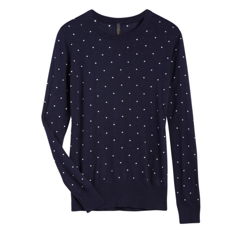 Stitch Fix Renee C Jerri Polka Dot Pullover Sweater