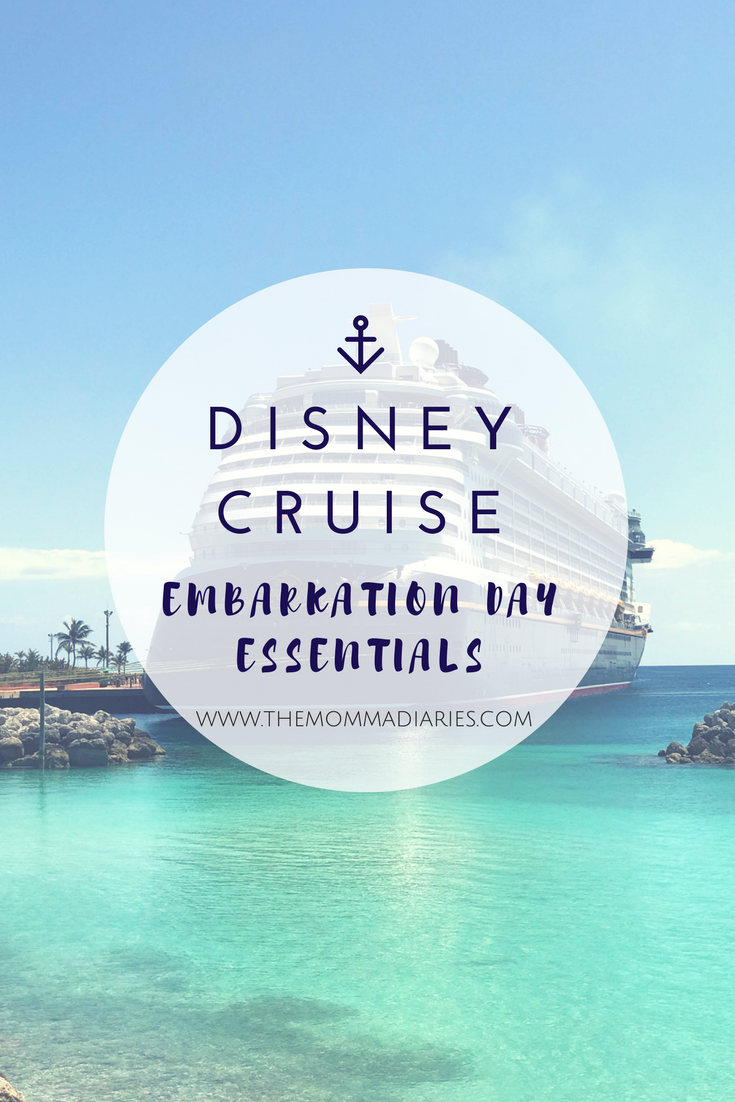 Disney Cruise Embarkation Day Essentials, Disney Cruise Packing List, Disney Cruise Essentials, #DisneySMMC #DSMMC