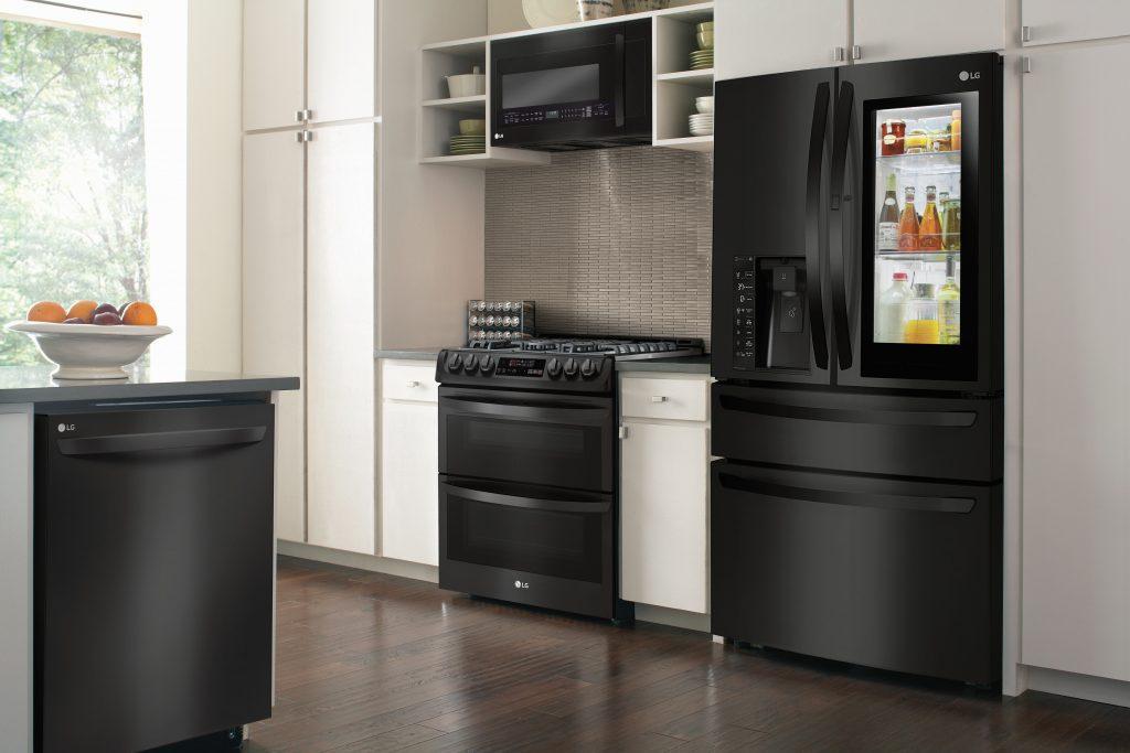LG Black Matte Kitchen Appliances