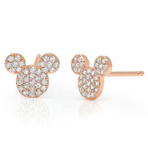 Mickey Rose Gold Earrings