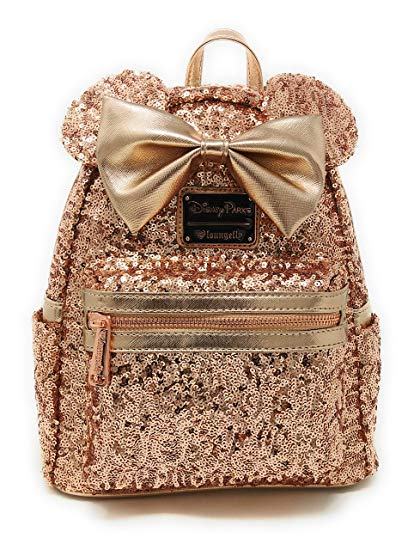 Loungefly rose Gold Minnie Bag