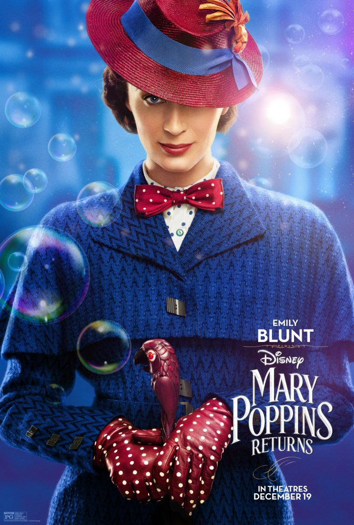 Mary Poppins Returns Character Posters, Emily Blunt Mary Poppins Returns, #MaryPoppinsReturns
