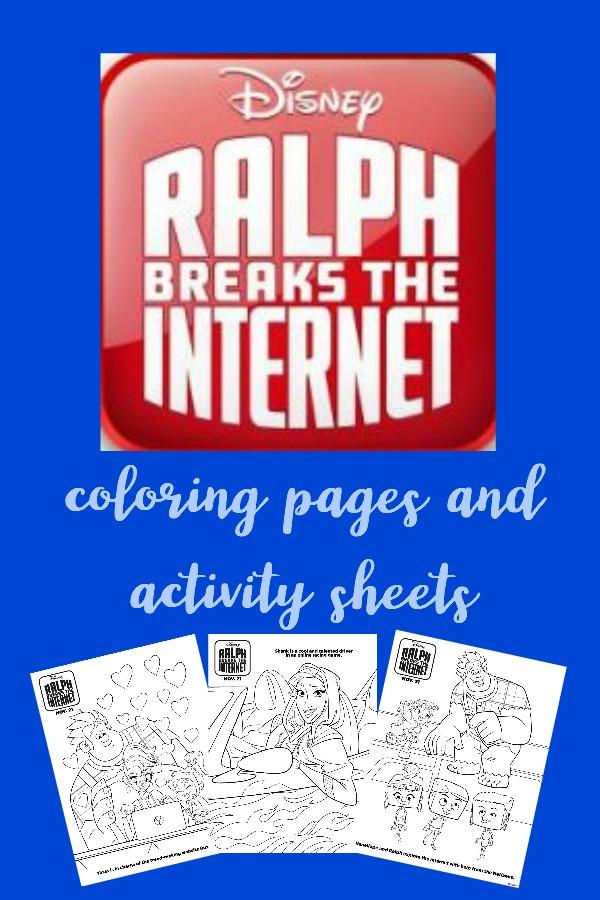 Ralph Breaks the Internet Coloring Pages, Ralph Breaks The Internet activity sheets, #RalphBreaksTheInternet, #RalphBreaksTheInternetEvent, #WreckItRalph2, #DisneySMMC