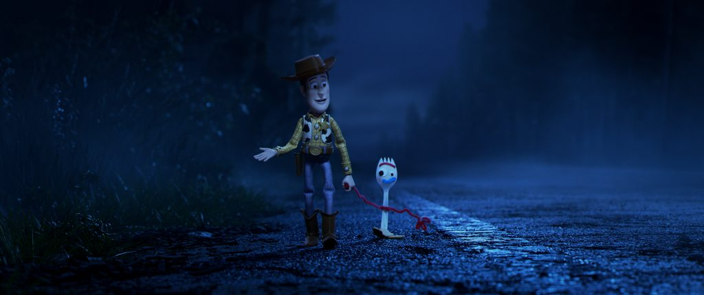 Woody and Sporky in Toy Story 4