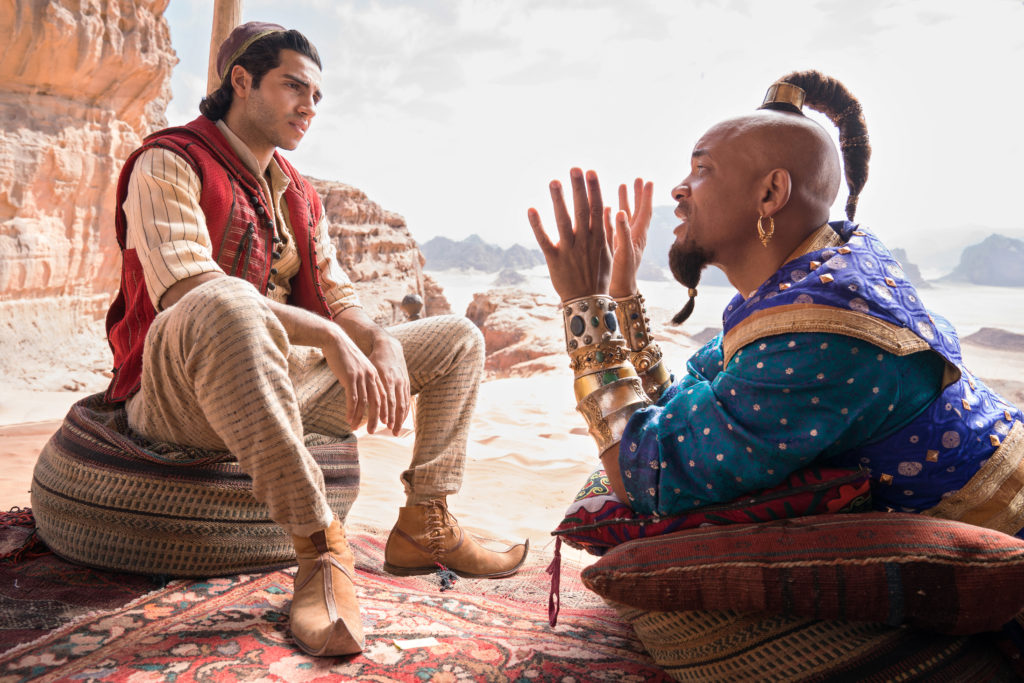 aladdin and genie in disney's live action aladdin