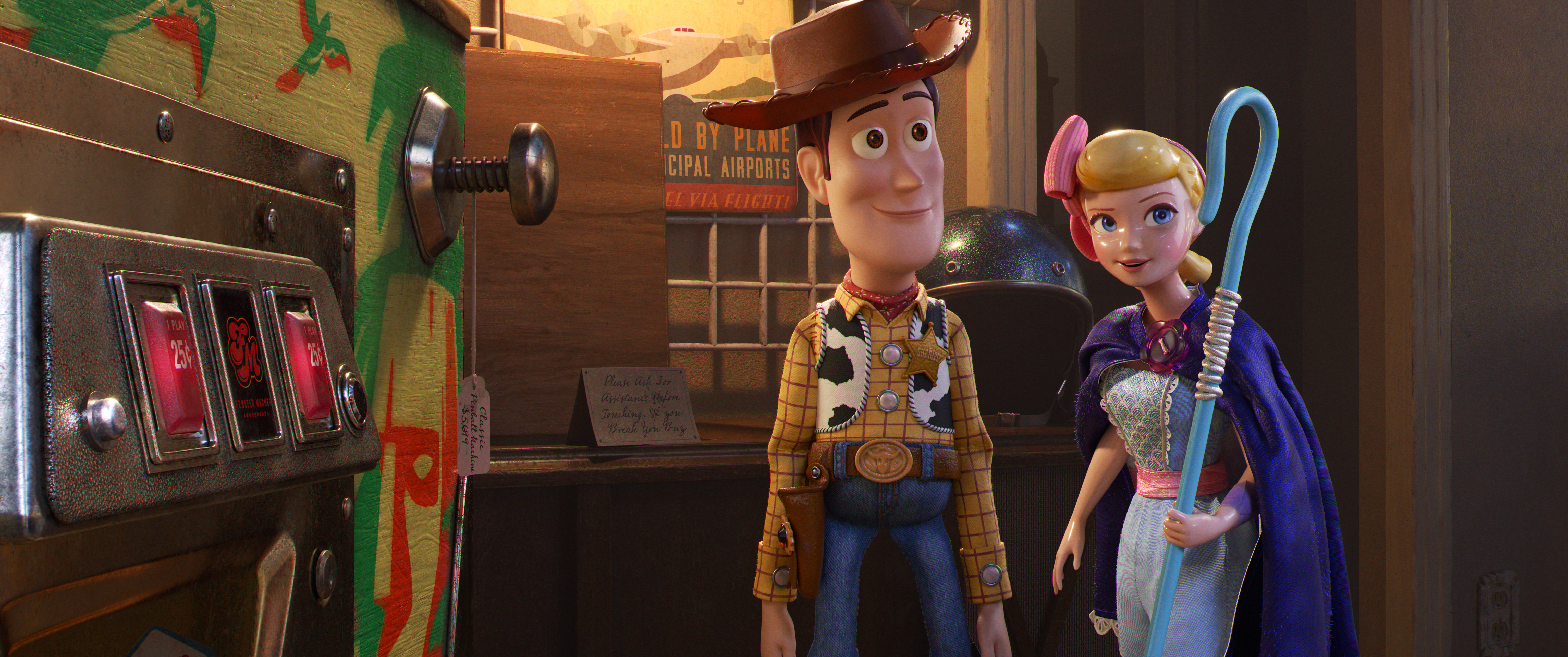 Woody and Bo Peep Toy story 4