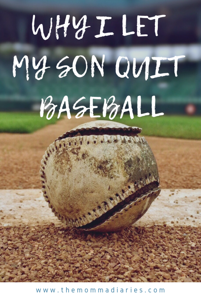 why I let my son quit baseball, should you let your child quit a sport or activity, childhood anxiety, kids and anxiety, #anxiety, #panicattack