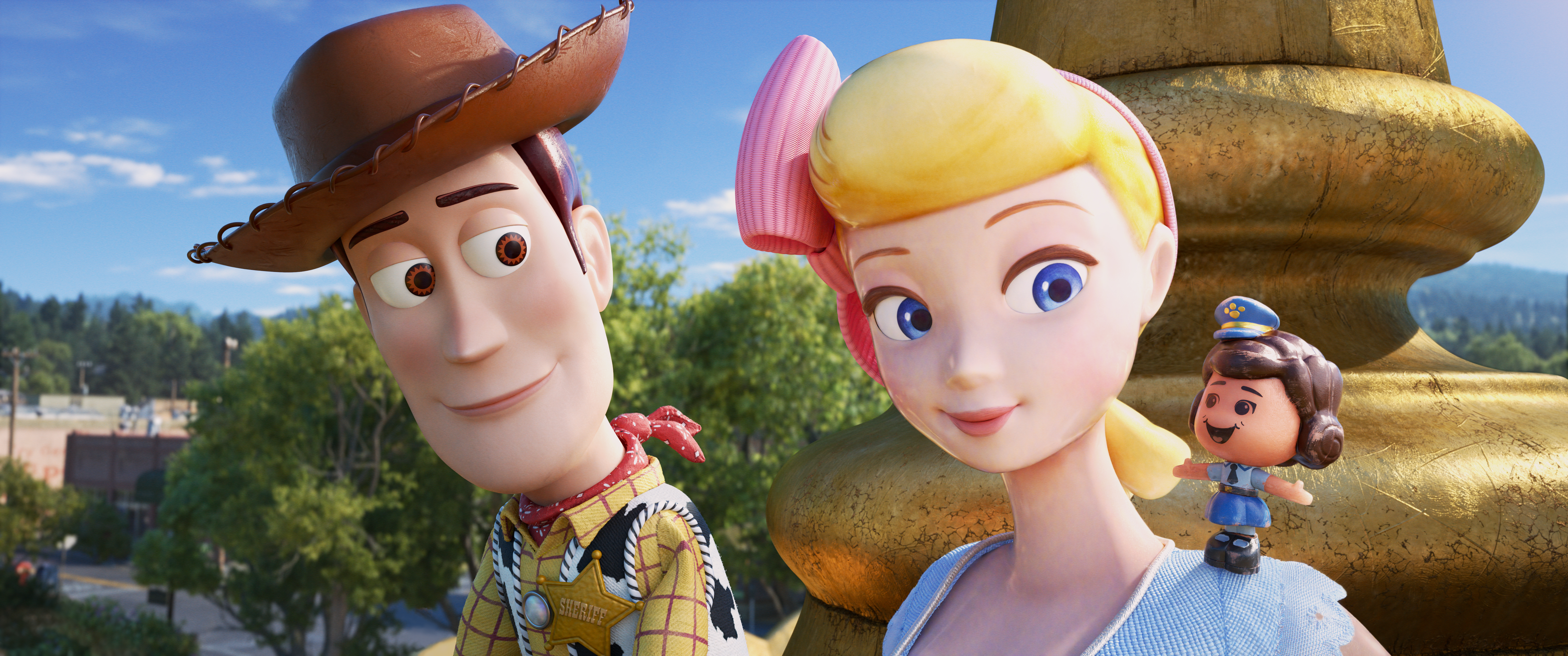 Woody Bo Peep and Giggles McDimples #ToyStory4