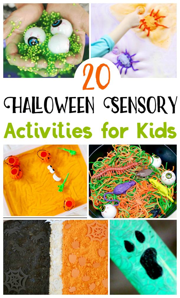 Halloween Sensory Activities for Kids, Halloween Sensory Activities, Halloween Kids Activities #SensoryPlay #HalloweenKids