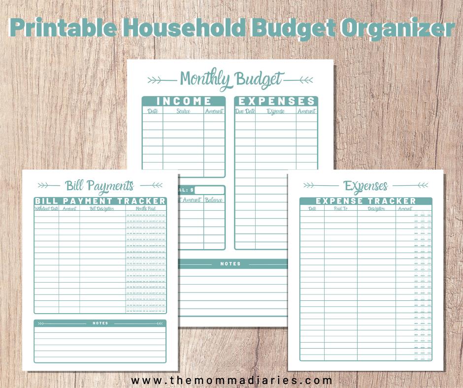 Printable Budget Sheets, Printable Household Budget Sheets