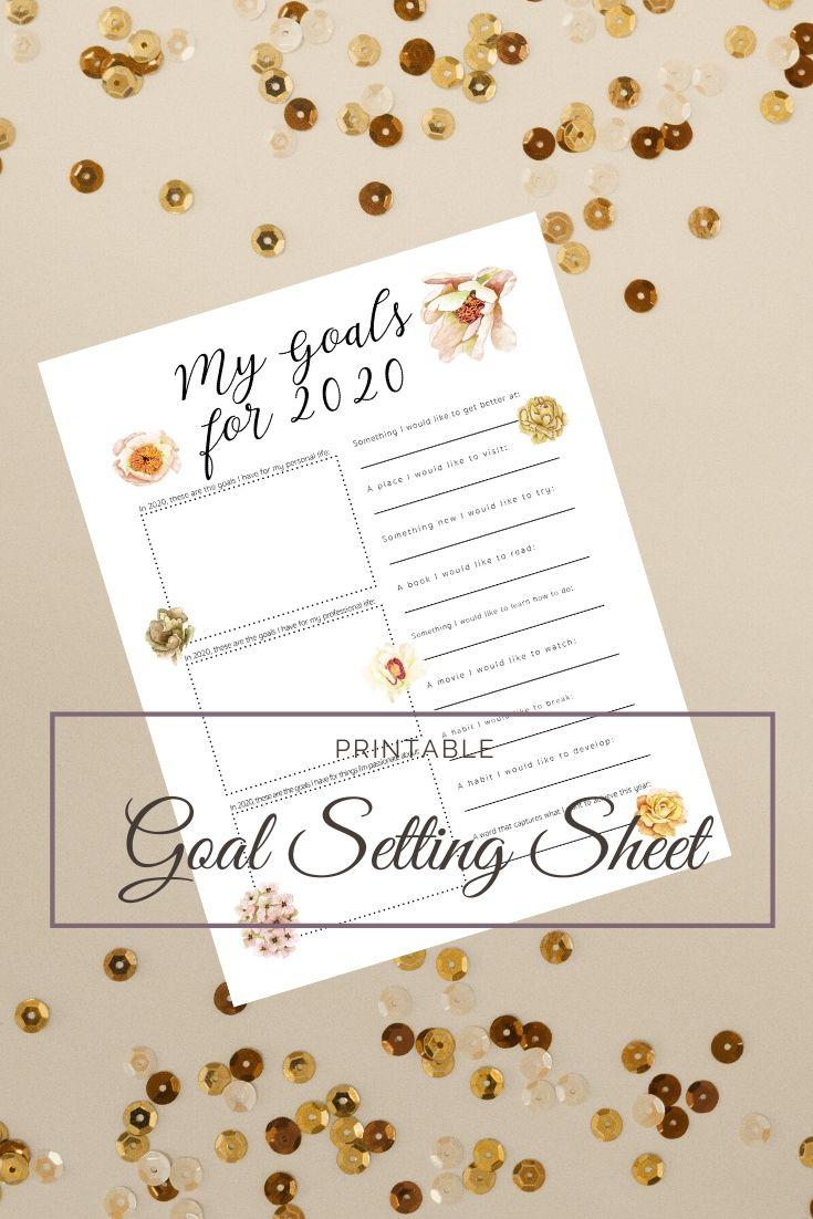 Goal setting printable, goal setting worksheet