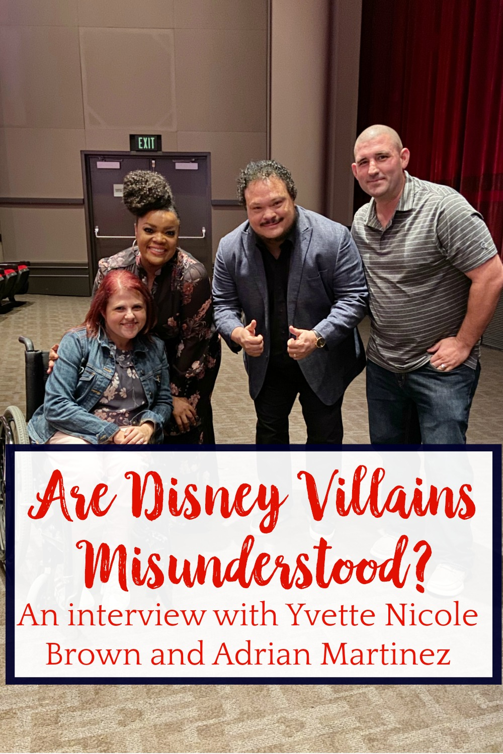 Disney Villains Misunderstood, Interview with Yvette Nicole Brown and Adrian Martinez, Disney Plus Lady and the Tramp