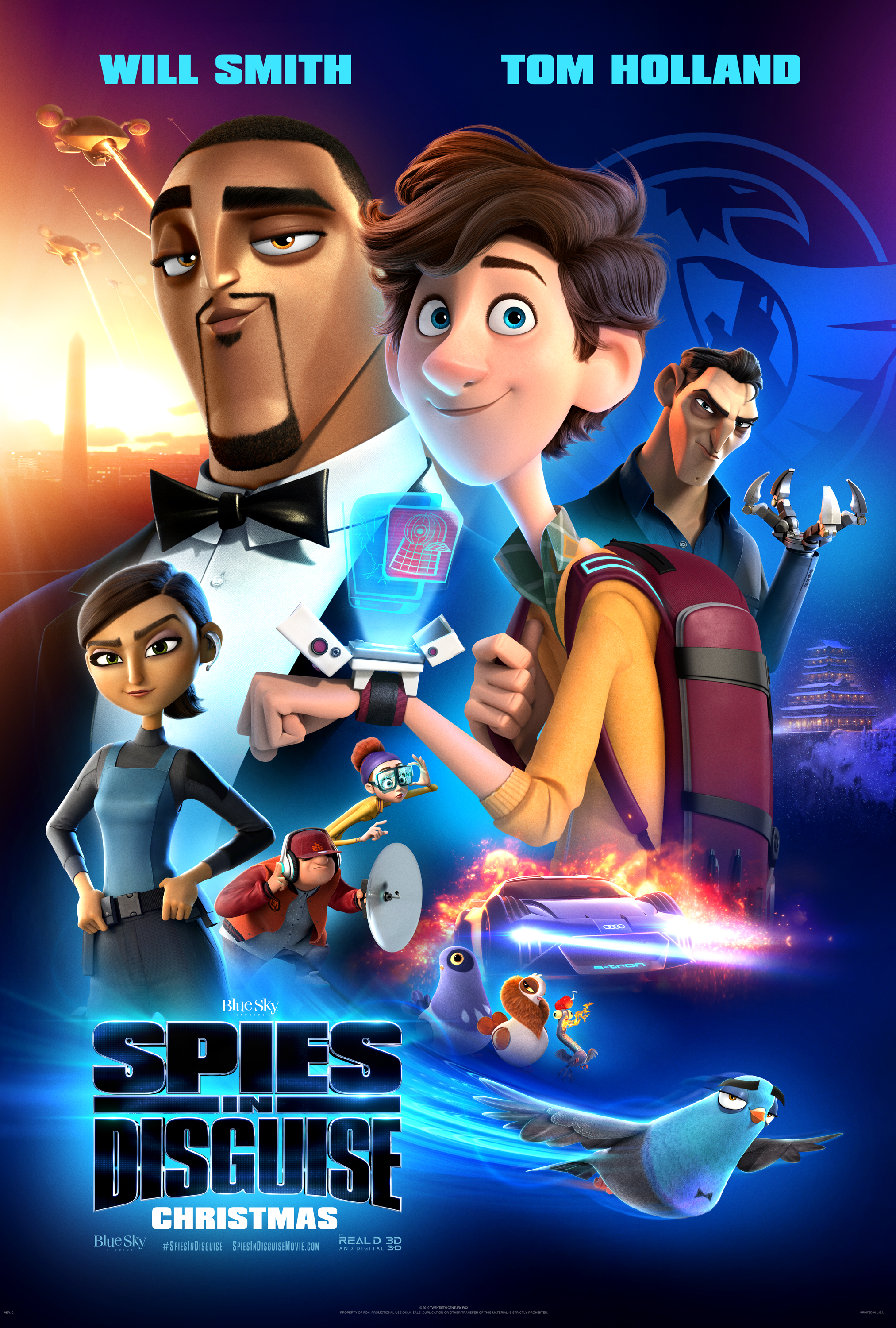 Spies in Disguise parent Review, Spies in Disguise Poster
