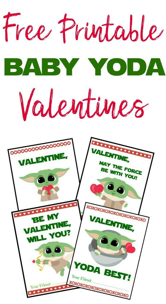 Baby Yoda Valentines, Free Printable Baby Yoda Valentine's day Cards, Printable Baby yoda Valentines