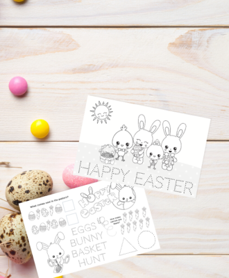 Kids Easter Activity Sheets