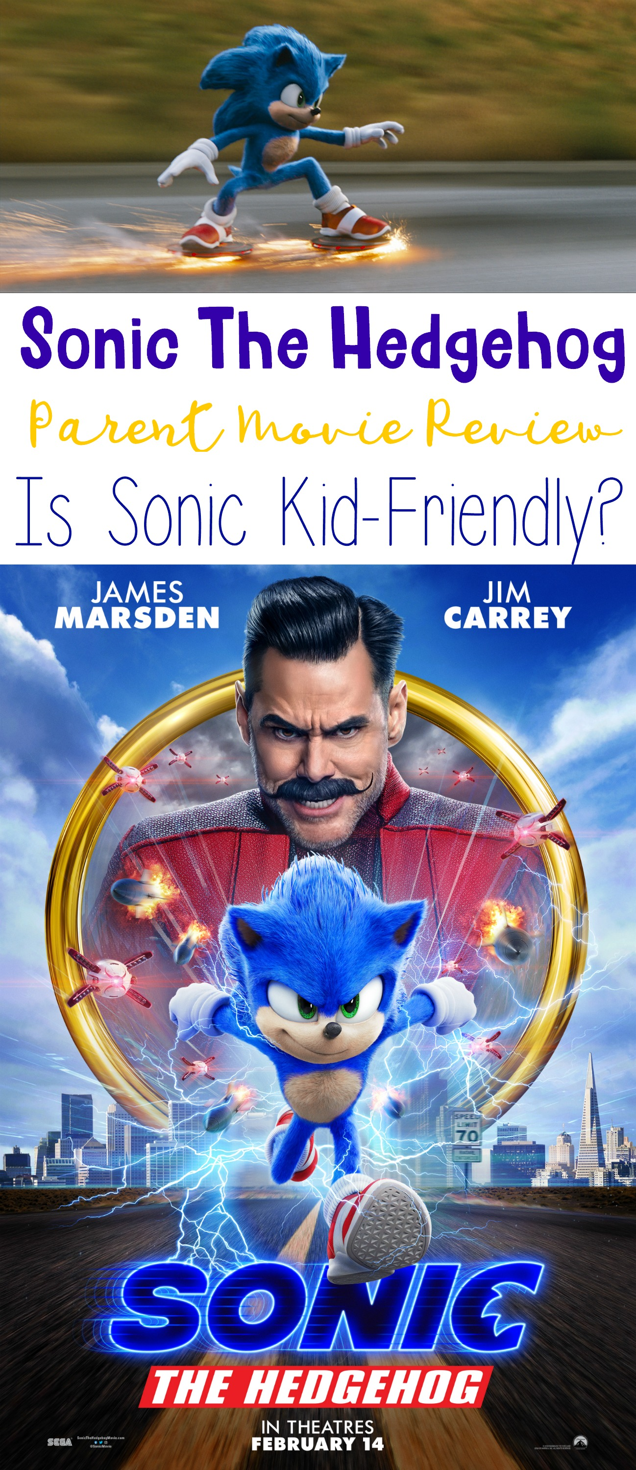 Sonic The Hedgehog Parent Movie Review, Is Sonic Kid-Friendly, #SonicMovie #CatchSonic