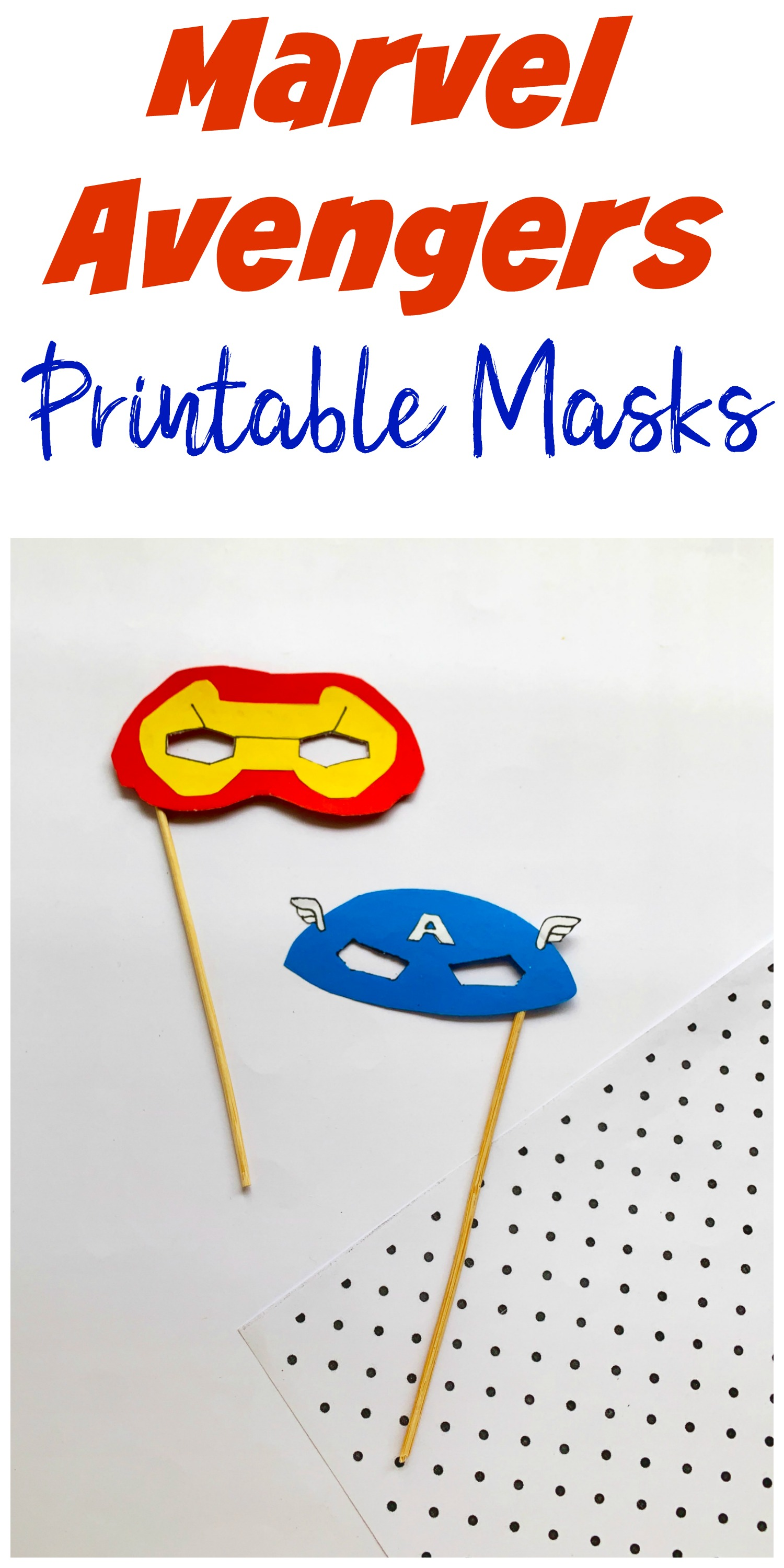 Marvel Avengers Printable Masks