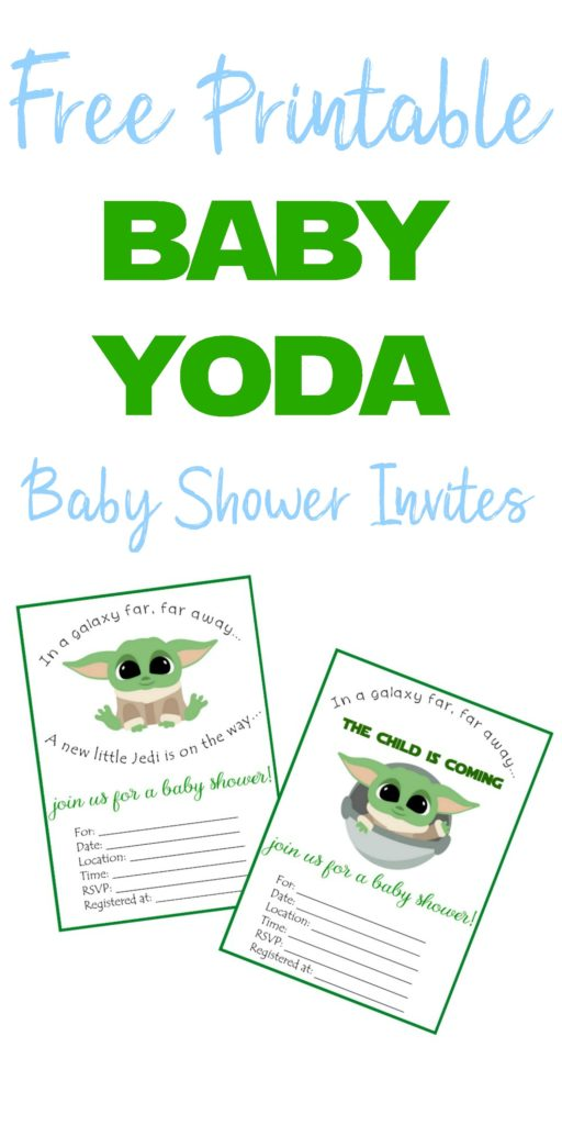 baby yoda baby shower invites