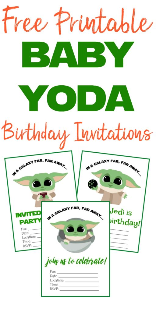 free printable baby yoda birthday invites