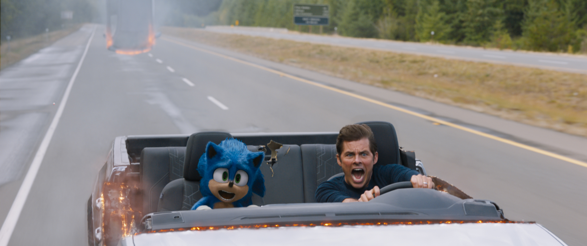 James Marsden and Ben Schwartz as Tom and Sonic