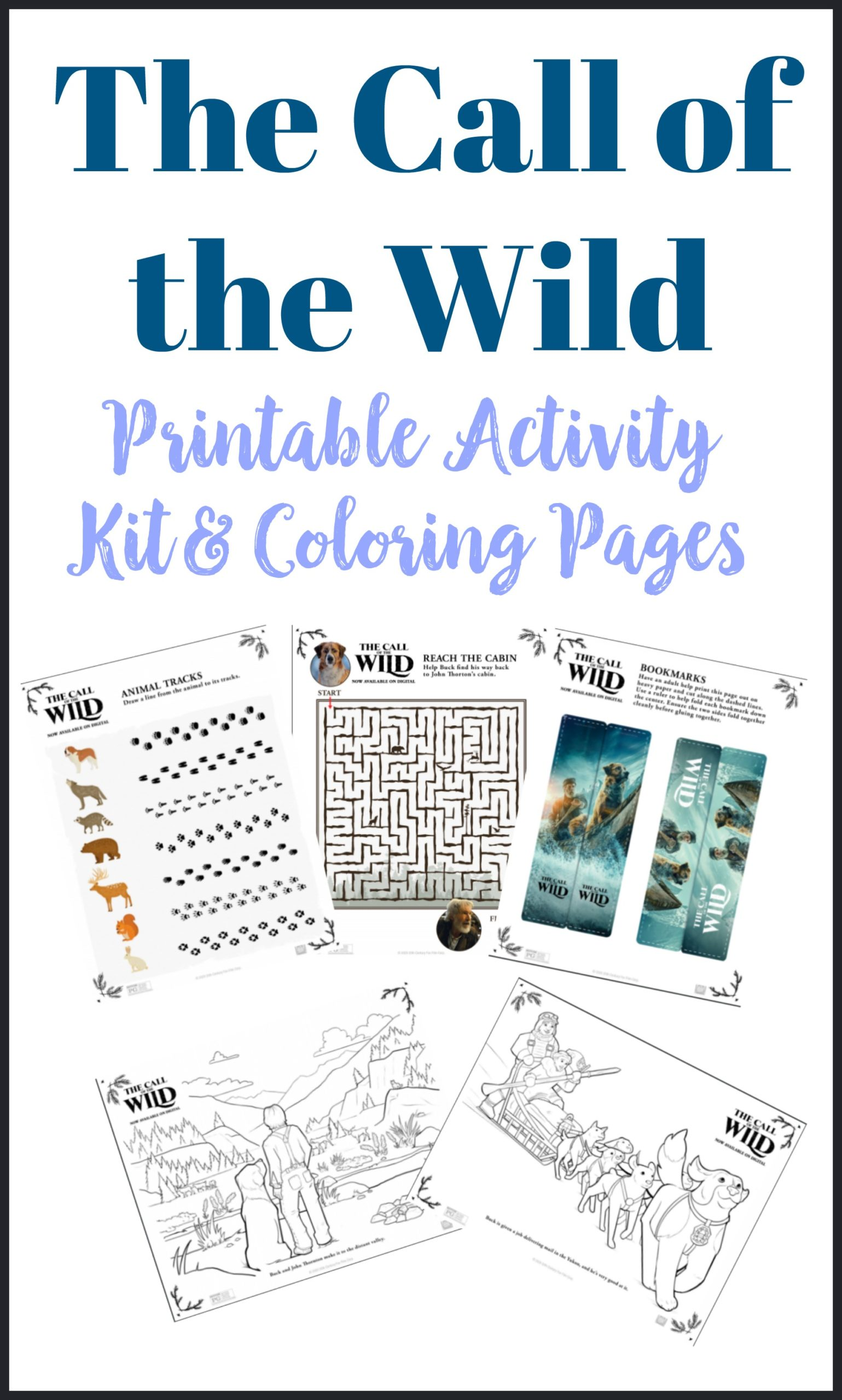 The Call of the Wild Printable Activity Kit
