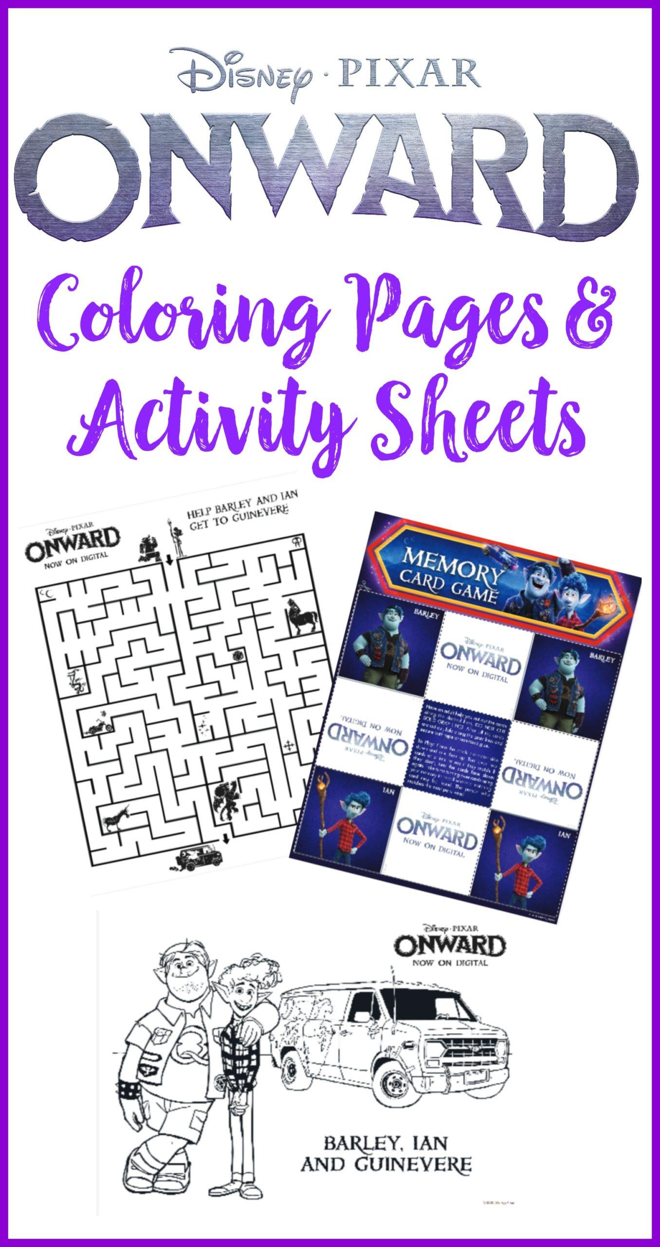 Onward Printable Coloring Pages