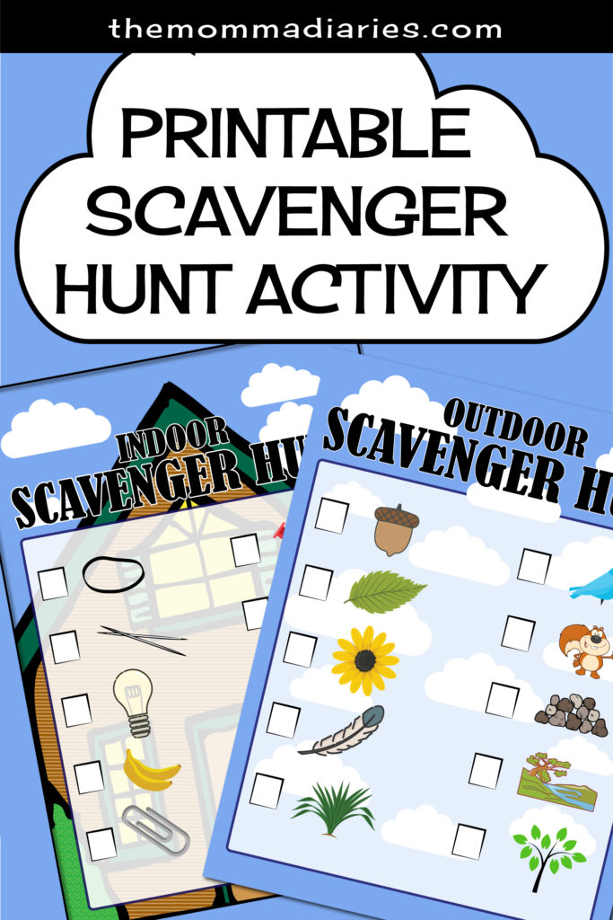 Free printable scavenger hunt