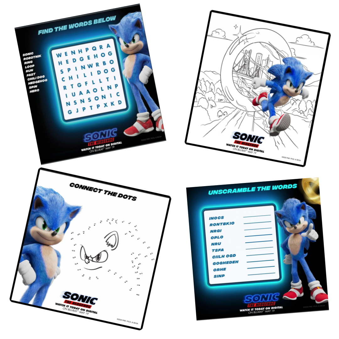 Sonic The Hedgehog Printable Activity Sheets The Momma Diaries