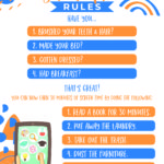 Free Printable Screen Time Rules for kids