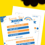 Kids Screen Time Rules Printable