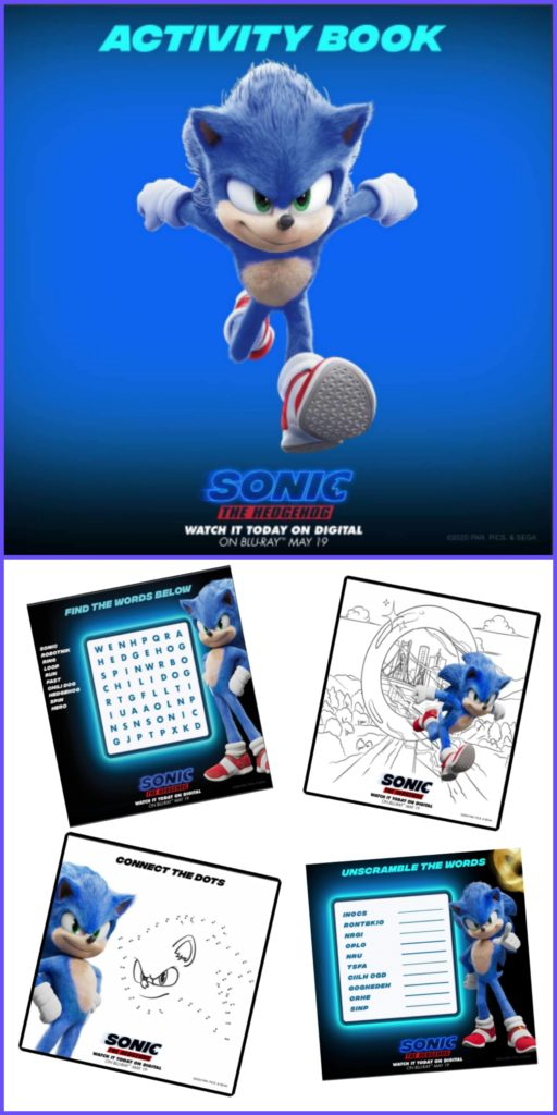 Sonic Printable Activity Sheets