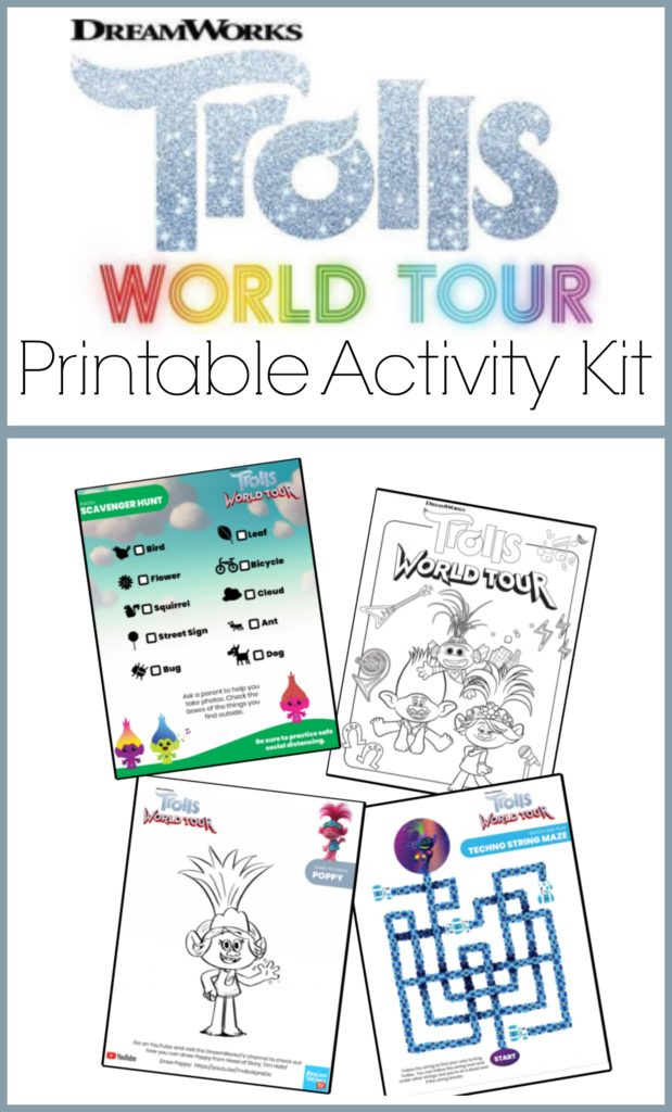 Trolls World Tour Printable Activity #TrollsWorldTour