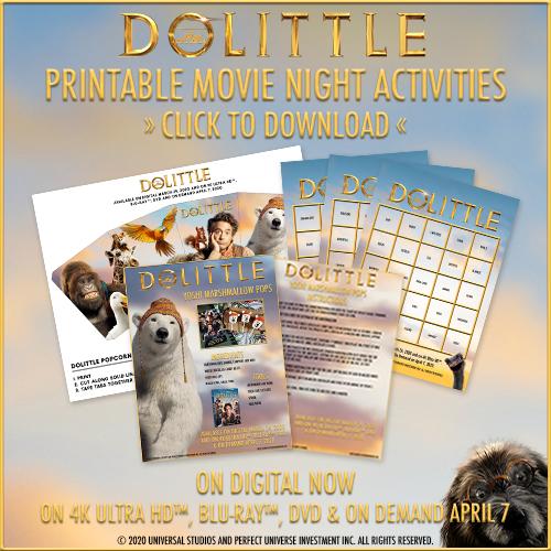 Dolittle Printable Activity Kit #DolittleMovie