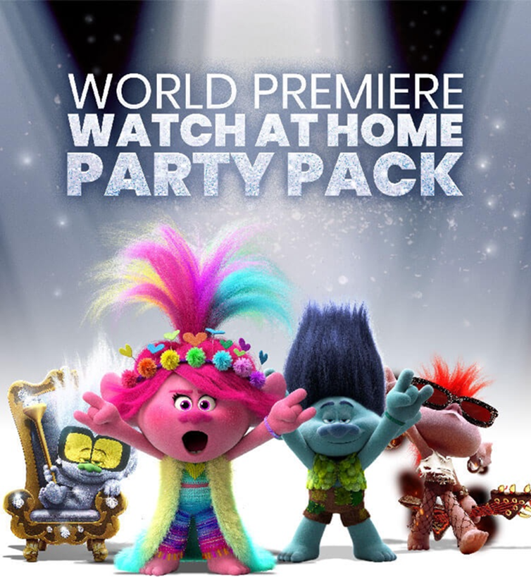 Trolls World Premiere Watch At Home Party Pack