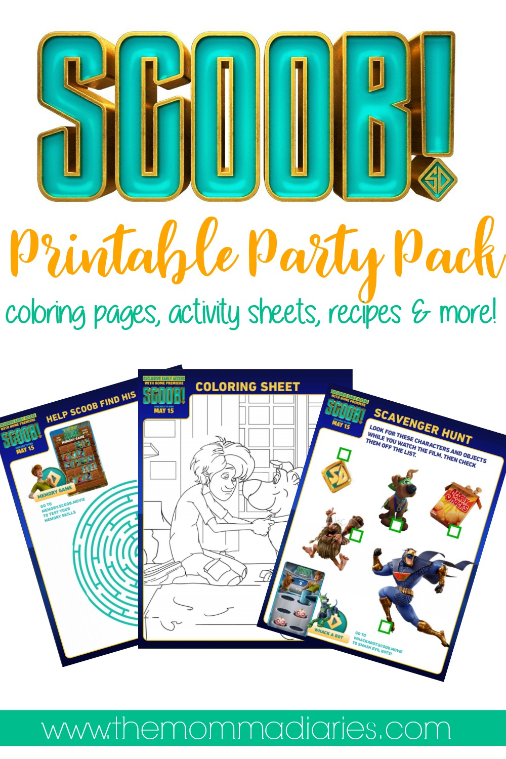 Free Printable Scoob Activities