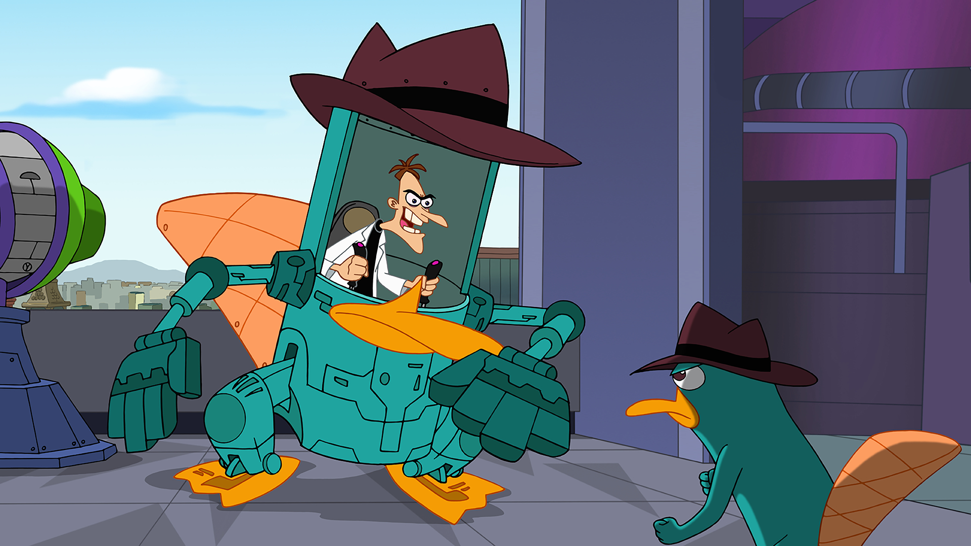 Dr. Doofenshmirtz and Perry the Platypus Phineas and Ferb Movie