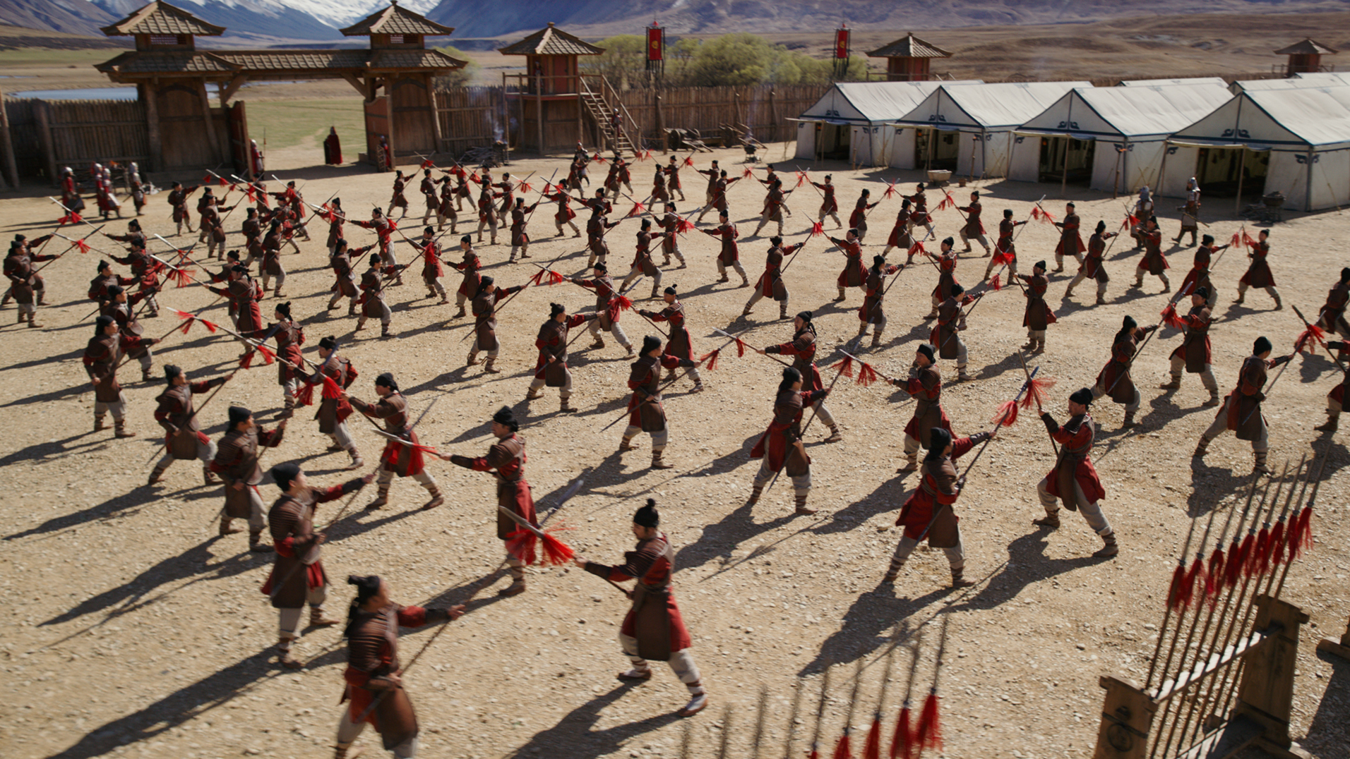 Mulan training scene