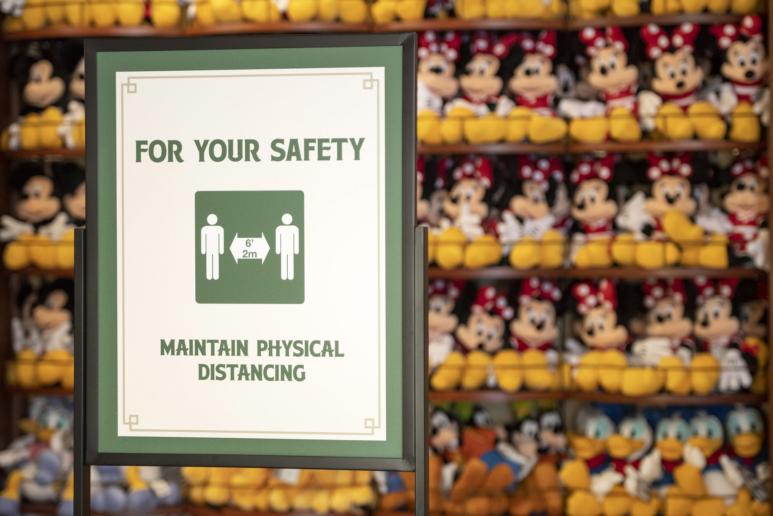 Health and Safety Signage at Walt Disney World Resort Theme Park
