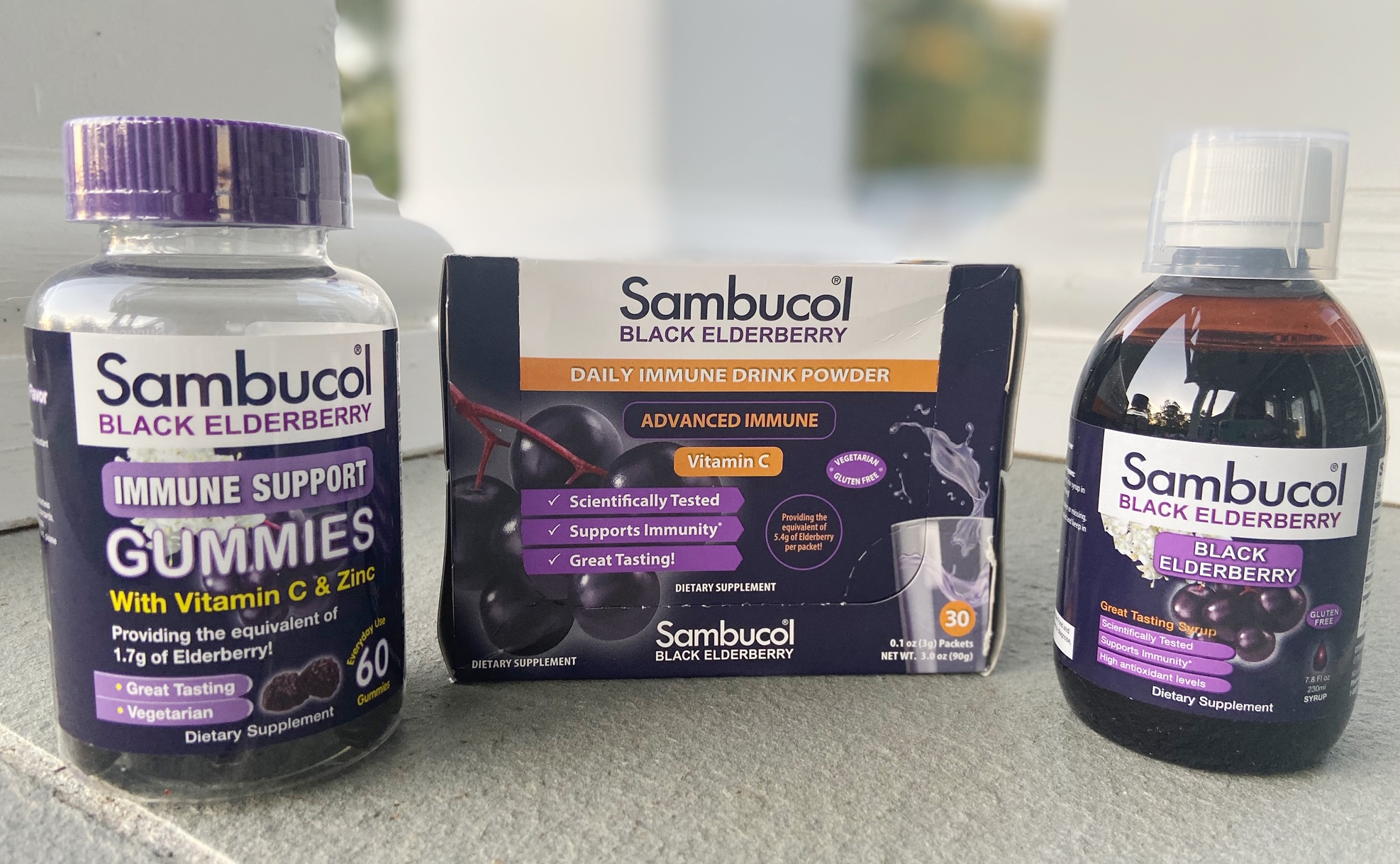 Sambucol Black Elderberry products
